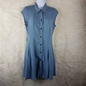 Free people dress button up fit & flair XS